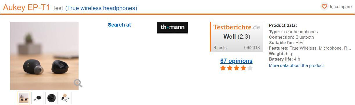 testberichte产品评分
