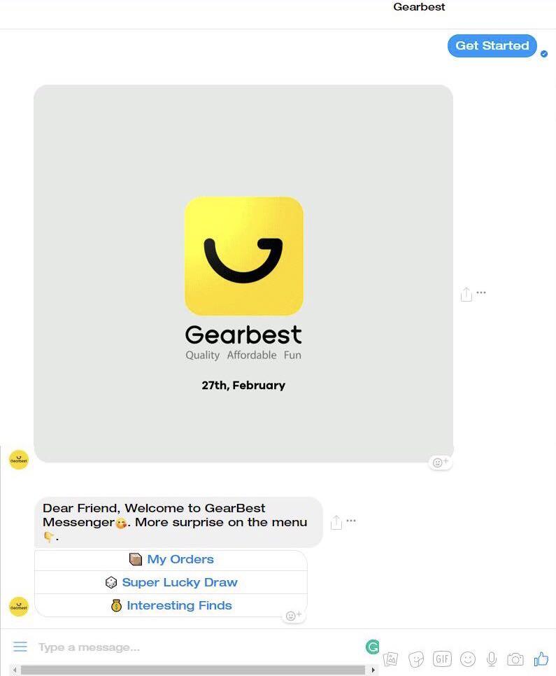 环球Gearbest聊天机器人