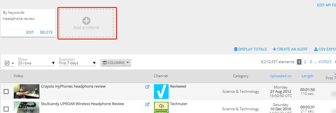 Wizdeo Analytics-Find content搜索条件增加-1