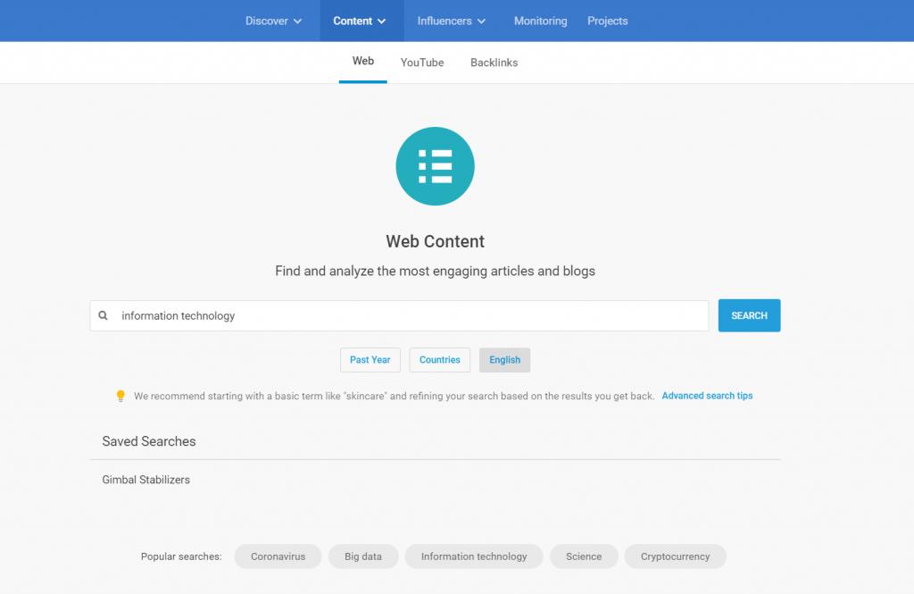 buzzsumo web content